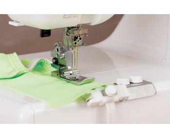 Лапка для плоскошовной машины Janome Для пришивания резинки фото