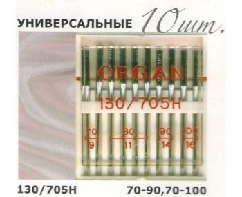 Иглы для швейных машин ORGAN Универсальные 10шт. фото