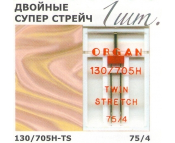Иглы для швейных машин ORGAN Twin Super Stretch фото