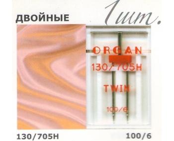 Иглы для швейных машин ORGAN Twin 100/6 фото